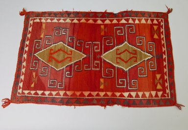 Navajo (Native American). Rectangular Blanket, 1890-1900. Wool, dye, 51 3/16 x 31 7/8in. (130 x 81cm). Brooklyn Museum, Anonymous gift in memory of Dr. Harlow Brooks, 43.201.191. Creative Commons-BY