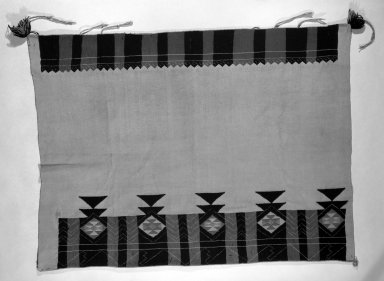 She-we-na (Zuni Pueblo) (Native American). Embroidered Dress. Cotton, wool, (146.0 x 111.0 cm). Brooklyn Museum, Anonymous gift in memory of Dr. Harlow Brooks, 43.201.193. Creative Commons-BY