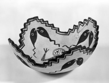 She-we-na (Zuni Pueblo) (Native American). Sacred Prayer Bowl. Clay, slip, 3 1/8 x 7 1/2 in. (8.0 x 19.0 cm). Brooklyn Museum, Anonymous gift in memory of Dr. Harlow Brooks, 43.201.213. Creative Commons-BY