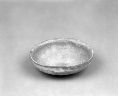 Native American. Reddish buff Shallow Circular Bowl. Clay, slip, 6 x 5 3/4 x 1 7/8 in.  (15.2 x 14.6 x 4.8 cm). Brooklyn Museum, Anonymous gift in memory of Dr. Harlow Brooks, 43.201.217. Creative Commons-BY