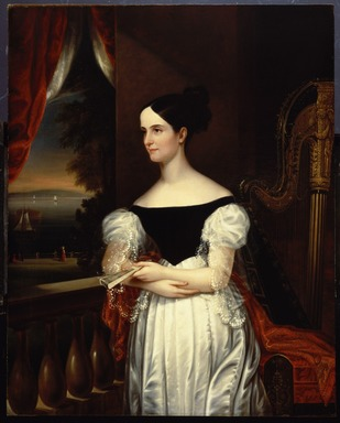 George Cooke (American, 1793-1849). Mrs. Robert Donaldson (Susan Jane Gaston), 1832. Oil on canvas, 50 x 40 3/16 in. (127 x 102 cm). Brooklyn Museum, Gift of Mrs. Henry M. Post (Mary R. Haskell), 43.210