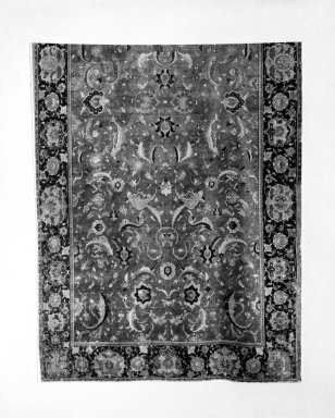 Carpet with Palmette Design, 17th century. Wool, 144 x 90 1/2 in.  (365.8 x 229.9 cm). Brooklyn Museum, Gift of Mr. and Mrs. Frederic B. Pratt, 43.24.1. Creative Commons-BY