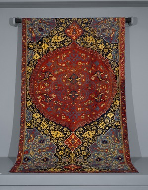 Medallion Ushak Carpet, first half 16th century. Wool, 163 x 83 in. (414 x 210.8 cm). Brooklyn Museum, Gift of Mr. and Mrs. Frederic B. Pratt, 43.24.2. Creative Commons-BY