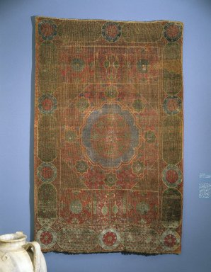 Mamluk Carpet, late 15th-early 16th century. Wool, 78 1/4 x 51 1/4 in.  (198.8 x 130.2 cm). Brooklyn Museum, Gift of Mr. and Mrs. Frederic B. Pratt, 43.24.3. Creative Commons-BY