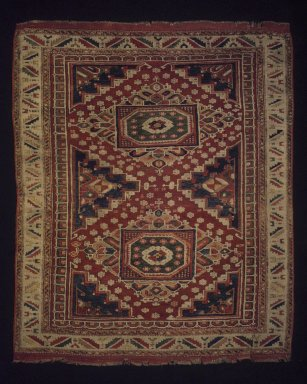 Carpet, late 19th century. Wool, Old Dims: 68 3/4 x 58 3/4 in. (174.6 x 149.2 cm). Brooklyn Museum, Gift of Mr. and Mrs. Frederic B. Pratt, 43.24.4. Creative Commons-BY