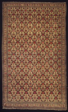 Senneh Carpet, late 18th-early 19th century. Wool, Old Dims: 76 1/2 x 46 1/2 in. (194.3 x 118.1 cm). Brooklyn Museum, Gift of Mr. and Mrs. Frederic B. Pratt, 43.24.5. Creative Commons-BY