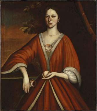 Attributed to Nehemiah Partridge (American, 1683-before 1737). Wyntje (Lavinia) Van Vechten, 1720. Oil on linen, 40 3/16 x 34 9/16 in. (102 x 87.8 cm). Brooklyn Museum, Dick S. Ramsay Fund, 43.36