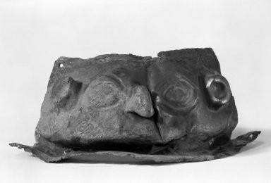 Inca. Mask. Silver, 3 7/16 x 4 15/16 in. (8.7 x 12.5 cm). Brooklyn Museum, Gift as a memorial to Dr. Harlow Brooks, 43.87.39. Creative Commons-BY