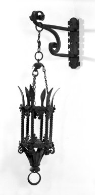 Spanish. Lantern with Cage, Chain and Wall Bracket, 15th century. Iron, H: 30 in. (76.2 cm). Brooklyn Museum, Gift of Mrs. Henry W. Healy, 44.138.7. Creative Commons-BY