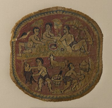 Coptic. Tapestry Roundel, 5th century C.E. Linen, wool, 4 11/16 x Diam. 4 1/2 in. (11.9 x 11.5 cm). Brooklyn Museum, Charles Edwin Wilbour Fund, 44.143c. Creative Commons-BY