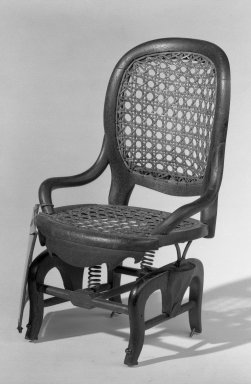 E. Hartwell. Patent Model Rocking Chair. Walnut, cane Brooklyn Museum, Gift of Mrs. Franklin Chace, 44.173.3. Creative Commons-BY