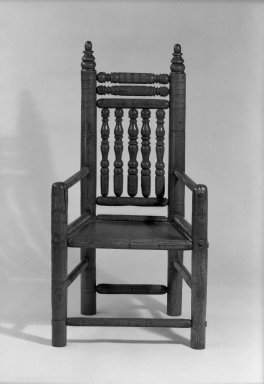 American. Carver-style Armchair. Turned oak, 45 5/8 x 24 x 19 3/4 in. (115.9 x 61 x 50.2 cm). Brooklyn Museum, Gift of Mr. and Mrs. Luke Vincent Lockwood, 44.176.2. Creative Commons-BY