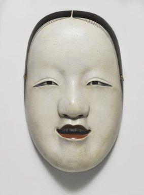 Noh Mask, 17th century. Wood and lacquer, 5 1/4 x 8 1/4 in. (13.4 x 21 cm). Brooklyn Museum, Gift of Mrs. Theodore Roosevelt in memory of Kermit Roosevelt, 44.192.1. Creative Commons-BY