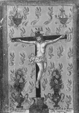 Tepatitlan. Painting Showing the Crucifixion, 1842. Paint on tin, 14 x 10 in. (35.6 x 25.4 cm). Brooklyn Museum, Frank L. Babbott Fund, 44.47.1