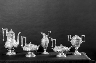 Samuel Kirk (American, 1793-1872). Sugar Bowl, ca. 1843. Silver, 9 x 8 1/4 x 5 1/4 in. (22.9 x 21 x 13.3 cm). Brooklyn Museum, Gift of Mr. and Mrs. Richman Proskauer, 44.60.4. Creative Commons-BY