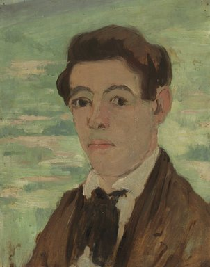 Abraham Walkowitz (American, born Siberia, 1878-1965). Self-Portrait 1903, 1903. Oil on panel mounted to laminated paperboard, 13 13/16 x 10 7/8 in. (35.1 x 27.6 cm). Brooklyn Museum, Gift of the artist, 44.68