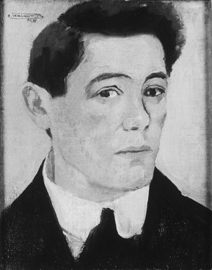 Abraham Walkowitz (American, born Russia, 1878-1965). Self-Portrait 1908, 1908. Oil on canvas, 21 1/4 x 18 1/2 in. (54 x 47 cm). Brooklyn Museum, Gift of the artist, 44.69