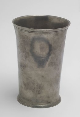 Edward Danforth. Beaker, 1788-1794. Pewter, 5 1/8 x 3 5/8 x 3 5/8 in. (13 x 9.2 x 9.2 cm). Brooklyn Museum, Designated Purchase Fund, 45.10.118.2. Creative Commons-BY