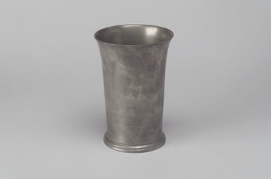 Robert Bonynge. Beaker, 1760-1782. Pewter, 5 1/4 x 3 5/8 x 3 5/8 in. (13.3 x 9.2 x 9.2 cm). Brooklyn Museum, Designated Purchase Fund, 45.10.124. Creative Commons-BY
