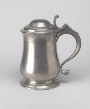 Thomas Swanson (British, born London, 1753-1783). Dome Top Tankard, 1760-1780. Pewter, 7 3/4 x 7 1/8 x 4 5/8 in. (19.7 x 18.1 x 11.7 cm). Brooklyn Museum, Designated Purchase Fund, 45.10.154. Creative Commons-BY