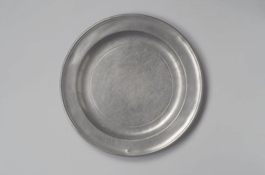 Henry Will. Large Plate or Platter, 1761-1793. Pewter, 1 x 13 1/8 x 13 1/8 in. (2.5 x 33.3 x 33.3 cm). Brooklyn Museum, Designated Purchase Fund, 45.10.169. Creative Commons-BY
