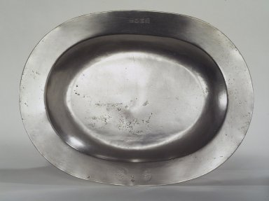 Henry Will. Oval Platter, 1761-1793. Pewter, 15 1/4 x 11 5/8 in. (38.7 x 29.5 cm). Brooklyn Museum, Designated Purchase Fund, 45.10.172. Creative Commons-BY