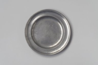 Parks Boyd. Plate, 1795-1819. Pewter, 5/8 x 7 7/8 x 7 7/8 in. (1.6 x 20 x 20 cm). Brooklyn Museum, Designated Purchase Fund, 45.10.178. Creative Commons-BY