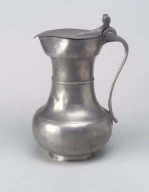 Possibly French. Flagon, n.d. Pewter, 9 3/8 x 6 3/8 x 5 1/2 in. (23.8 x 16.2 x 14 cm). Brooklyn Museum, Designated Purchase Fund, 45.10.193. Creative Commons-BY