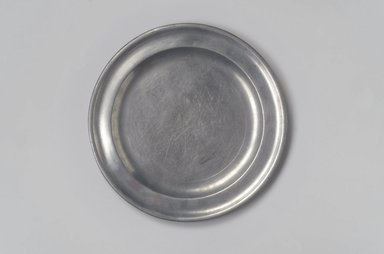 Nathaniel Austin. Plate, 1763-1807. Pewter, 1/2 x 8 3/4 x 8 3/4 in. (1.3 x 22.2 x 22.2 cm). Brooklyn Museum, Designated Purchase Fund, 45.10.8. Creative Commons-BY