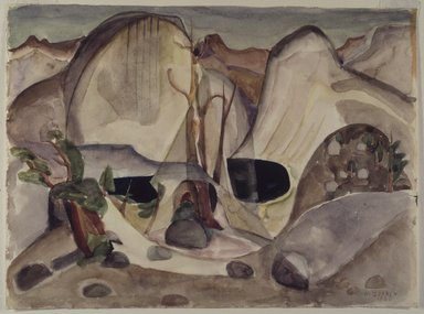 Marguerite Thompson Zorach (American, 1887-1968). Lost Lake, Yosemite, 1920. Watercolor over graphite on cream, moderately thick, slightly textured, wove paper, 10 1/16 x 13 5/8 in. (25.6 x 34.6 cm). Brooklyn Museum, Gift of Ettie Stettheimer, 45.122
