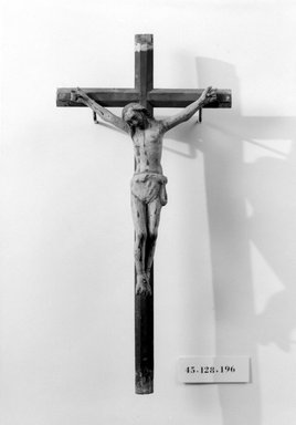 Crucifix, late 18th-early 19th century. Wood, gesso, paint, Cross: 14 1/2 x 7 1/8 in. (36.8 x 18.1 cm). Brooklyn Museum, Henry L. Batterman Fund, 45.128.196. Creative Commons-BY