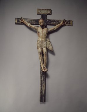 Unknown. Crucifix, late 18th-early 19th century. Wood, gesso, paint, cross: 43 1/2 x 27 7/8. Brooklyn Museum, Henry L. Batterman Fund, 45.128.201. Creative Commons-BY