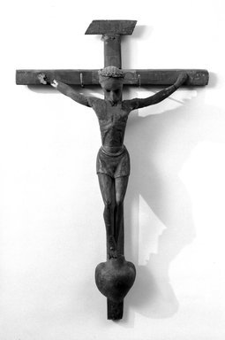 Unknown. Crucifix. Painted wood, 18 3/4 x 33 3/8 in. (47.6 x 84.8 cm). Brooklyn Museum, Henry L. Batterman Fund, 45.128.206. Creative Commons-BY