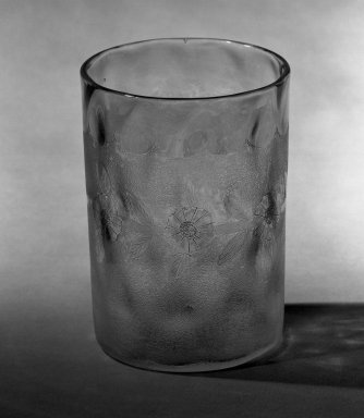 American. Tumbler, 1885. Glass, 3 5/8 x 2 3/8 in. (9.2 x 6 cm). Brooklyn Museum, Dick S. Ramsay Fund, 45.143.18. Creative Commons-BY