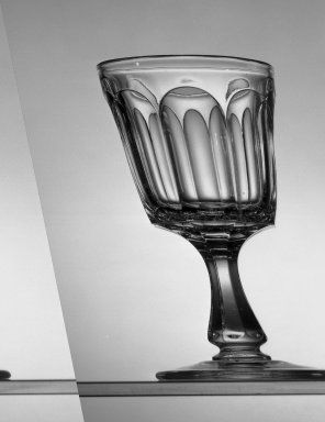 American. Goblet, about 1869. Glass, H: 6 in. (15.2 cm). Brooklyn Museum, Dick S. Ramsay Fund, 45.143.45. Creative Commons-BY
