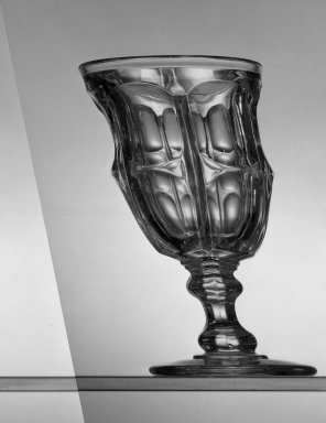 American. Goblet, about 1869. Glass, H: 6 in. (15.2 cm). Brooklyn Museum, Dick S. Ramsay Fund, 45.143.46. Creative Commons-BY