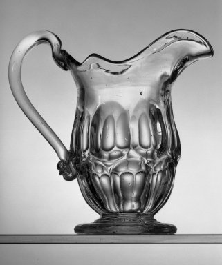 American. Pitcher, about 1869. Glass, H: 6 in. (15.2 cm). Brooklyn Museum, Dick S. Ramsay Fund, 45.143.51. Creative Commons-BY