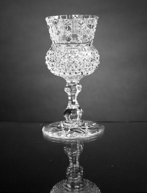 American. Goblet, ca.1870. Glass, H: 6 1/4 in. (15.9 cm). Brooklyn Museum, Dick S. Ramsay Fund, 45.143.6. Creative Commons-BY
