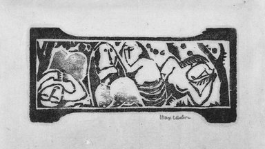 Max Weber (American, born Russia, 1881-1961). Frieze. Woodcut, 1 15/16 x 4 3/16 in. (5 x 10.7 cm). Brooklyn Museum, By exchange, 45.159.2