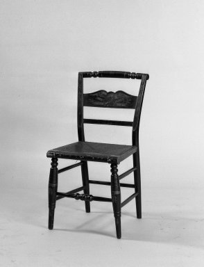 American. Chair, 19th century., 32 1/2 x 16 x 14 3/4 in. (82.6 x 40.6 x 37.5 cm). Brooklyn Museum, Gift of Mrs. Wesley H. Moore, 45.162. Creative Commons-BY