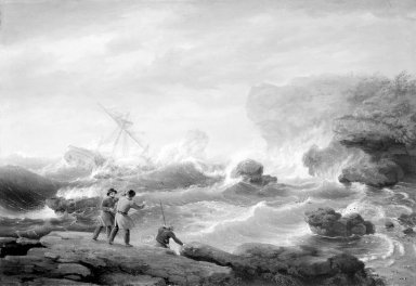 Thomas Birch (American, 1779-1851). Shipwreck, 1829. Oil on canvas, 27 3/16 x 39 1/16 in. (69 x 99.2 cm). Brooklyn Museum, Dick S. Ramsay Fund, 45.166