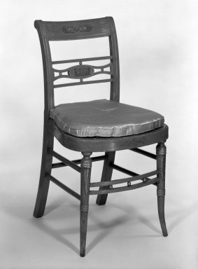 Side Chair, early 19th century. Lacquer, gold leaf and bronze, 33 5/8 x 18 1/8 x 16 3/4 in. (85.4 x 46 x 42.5 cm). Brooklyn Museum, Gift of Charles Montgomery, 45.173.2. Creative Commons-BY