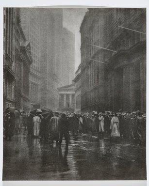 Joseph Petrocelli (American, died 1928). The Curb Market - New York, 1921. Bromoil print, 14 x 17 in. (35.6 x 43.2 cm). Brooklyn Museum, Gift of Mrs. Joseph Petrocelli, 45.31.38