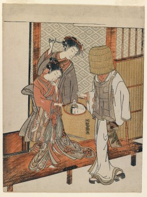 Isoda Koryusai (Japanese, ca. 1766-1788). The Vain Disguise, ca. 1770. Woodblock color print, 10 1/4 x 7 5/8 in. (26 x 19.4 cm). Brooklyn Museum, Purchased with funds given by Louis V. Ledoux and Asian Art Department Funds, 45.37.2