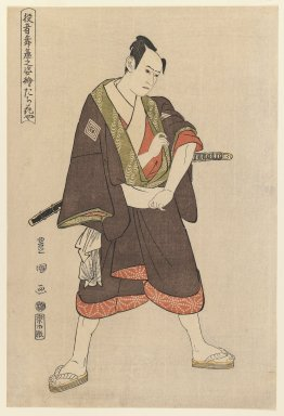 Utagawa Toyokuni I (Japanese, 1769-1825). Ichikawa Yaozo (Tachibanaya), ca. 1795. Woodblock color print, 14 5/8 x 9 7/8 in. (37.2 x 25.1 cm). Brooklyn Museum, Purchased with funds given by Louis V. Ledoux and Asian Art Department Funds, 45.37.3