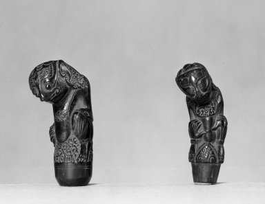Handles of Kris. Wood Brooklyn Museum, A. Augustus Healy Fund, 45.50.4a-b. Creative Commons-BY