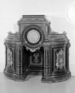 Kimbel and Cabus (1863-1882). Cabinet, ca. 1865-1875. Rosewood, other woods, gilt decoration, 62 1/2 x 19 1/4 x 68 in. (158.8 x 48.9 x 172.7 cm). Brooklyn Museum, Anonymous gift, 45.96. Creative Commons-BY