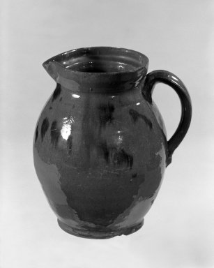 American. Pitcher with Cover, 19th century. Glazed earthenware, 7 3/8 x 3 3/4 in. (18.7 x 9.5 cm). Brooklyn Museum, Gift of Arthur W. Clement, 46.1.11. Creative Commons-BY