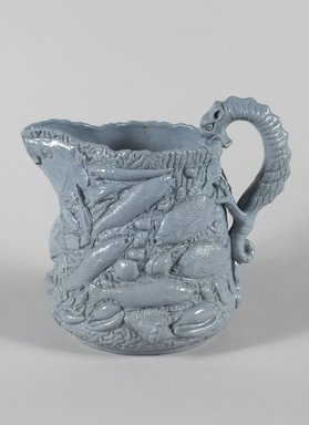 E & W Bennett. Pitcher, 1853. Glazed earthenware, 9 3/4 x 6 in. (24.8 x 15.2 cm). Brooklyn Museum, Gift of Arthur W. Clement, 46.1.4. Creative Commons-BY