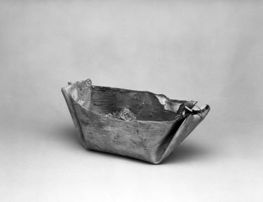 Possibly Chippewa (Native American). Sap Trough, 1910. Birch bark, resin, fabric, 40.7 x 19.5 x 22 cm / 16 x 7 5/8 x 8 5/8 in. Brooklyn Museum, By exchange, 46.100.27. Creative Commons-BY